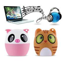 Mini Wireless Bluetooth Speaker Cute Animal Cartoon Pig Dog Bear Tiger Panda Pocket Speaker Special Gift For Friend Kid Child