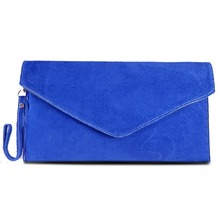 MISS LULU Women Clutch Wallet Purse Celebrity Real Italian Suede Leather Envelope Party Evening Clutches Hand Bag YD1405