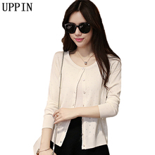 UPPIN 2017 Spring Autumn New Women's Cardigan Short Sweater Sweater Shawl Long Sleeve Air Conditioning Shirt Small Cardigan