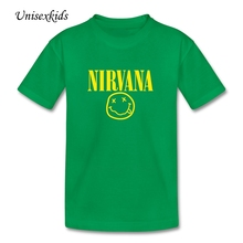 2017 Nirvana Smile Baby Summer Clothing Child Purified Cotton Cool T-shirt Boy Girl Custom Made Top Print t Shirt Discount