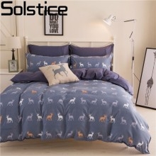 Solstice Home Textiles 100%Cotton Simple Bohemian Style 3/4pcs Bedding Sets Bed Linen Include Duvet Cover Bed Sheet Pillowcase