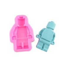 Super Big Robot Lego Cake Mold Ice Tray Mold Fondant Chocolate Cookie Mould Gum Paste Soap Candle Craft Baking Tools MK1948