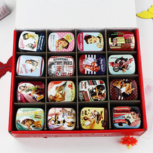 Vintage Gift Creative Small 3D Tin Box Decorative 48Piece/Lot Beauty Mac Makeup Cosmetic Organizer  Tea Jewelry Coin Box