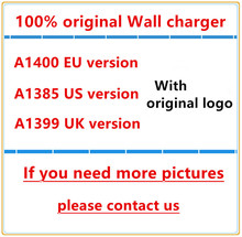 100% Original Quality A1400 EU US UK Plug USB AC Power Charger Wall Adapter charger For iphone 5 5S 6 7 PLUS 100pcs/lot DHL Free