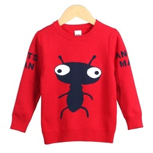 Y072 Pure Cotton Children Sweaters Shirts Baby Boy Girls Knitted Ants Sweater Autumn Winter Pullover Sweater Fancy Kids Clothing(China)