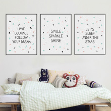 Modern Nordic Minimalist Typography Star Quote Canvas Art Print Poster Nursery Wall Picture Painting No Frame Kids Room Decor(China)