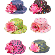 HOT 2017 Baby Girls Floral Hat Beautiful Cotton Fitted Sunhat 8-36 Months Children Bucket Hats Baby Girls Clothing Gorros Bebe