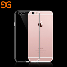 GUSGU Transparent Phone Case Clear Soft TPU Ultra Thin Silicone Phone Cover for iPhone 6/6s Plus(China)