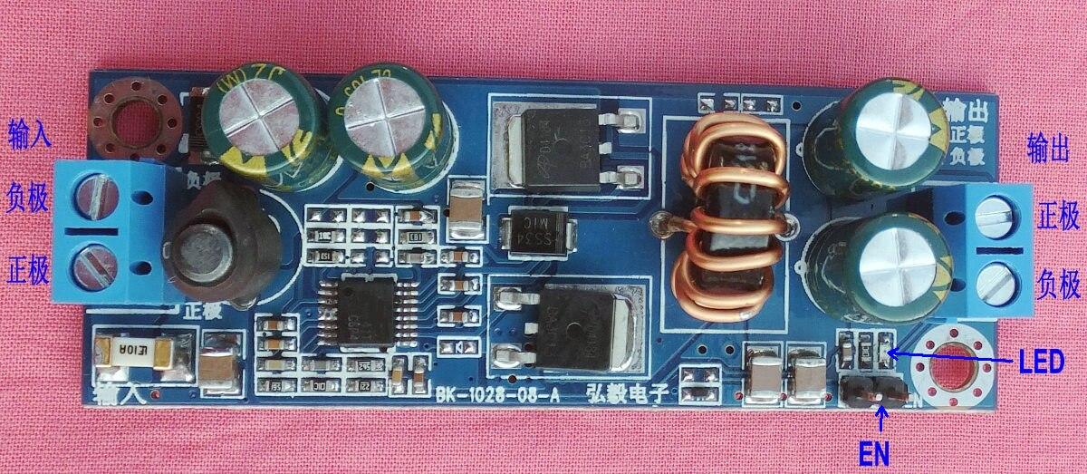 DC-DC buck 24V 12V to 12V 5V 10A vehicle /LED/ power supply<br>