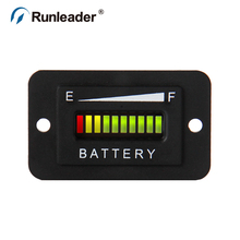 Battery Fuel Gauge Indicator for DC powered equipment such as fork lifts golf carts floor care equipment
