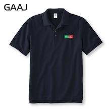GAAJ 2017 Men Polo Famous Brand Shirt Mens Cotton Fashion Print For Male Summer Short-sleeve Casual Business Polos Shirts T XXXL(China)