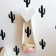 Heart Cute wooden clothes hook  for kids room wall decorate children room ECO friendly heart  hanger hook  baby room decoration