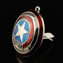 New brand Auto car air outlet conditioning vent perfume Clip The Avengers Cartoon cars flavoring smell scent ionizer Accessories(China)
