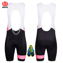 AOSTER Summer Cycling short Bicycle Bib Pants 5D Gel Pad Quick Dry Bike Tights Mtb Men Ropa Ciclismo Wicking Cycling Bib Shorts(China)