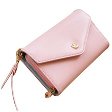 Hot Multifunction Women Wallet Coin Case Purse For iphone 4s/5(China)