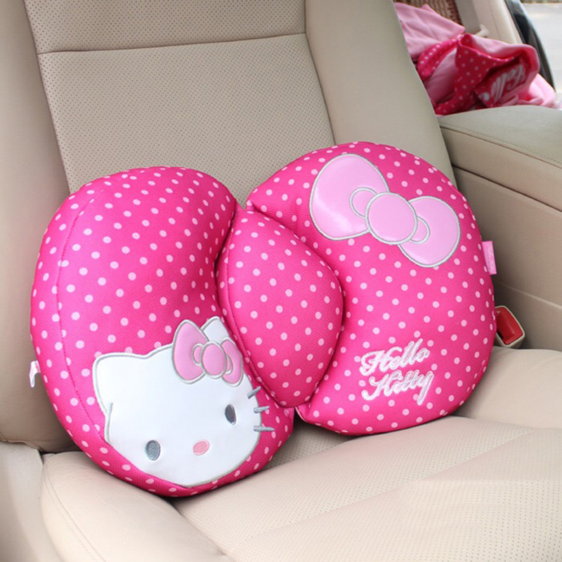 Pink-Car-Styling-Car-Seat-Covers-Interior-Accessories-Hello-Kitty-Car-Steering-Wheel-Cover-Handbrake-Gears(3)