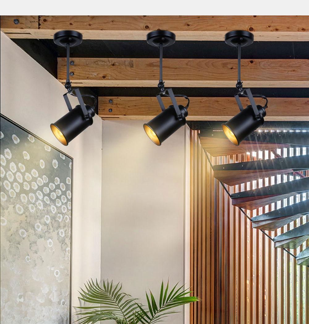 Industrial Pendant Light Vintage Loft pendant light Spotlights American pendant Lamp LED Lamp Restaurant cafe bar decoration 7