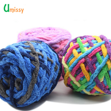 4pcs Colorful Thick Yarn for Knitting Beautiful Hat Scarf Sweater Shoes giant wool blanket Cashmere Yarn(China)