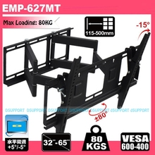 HEAVY DUTY Dual Arm 32-65 inch LCD LED Monitor TV Wall Mount Full Motion Swivel Tilt Bracket Arm(China)