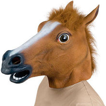 Horse Animal Head Mask Creepy Halloween Costume  Novelty Rubber Horse Head Mask Fancy Dress Party Cosplay Party Masks