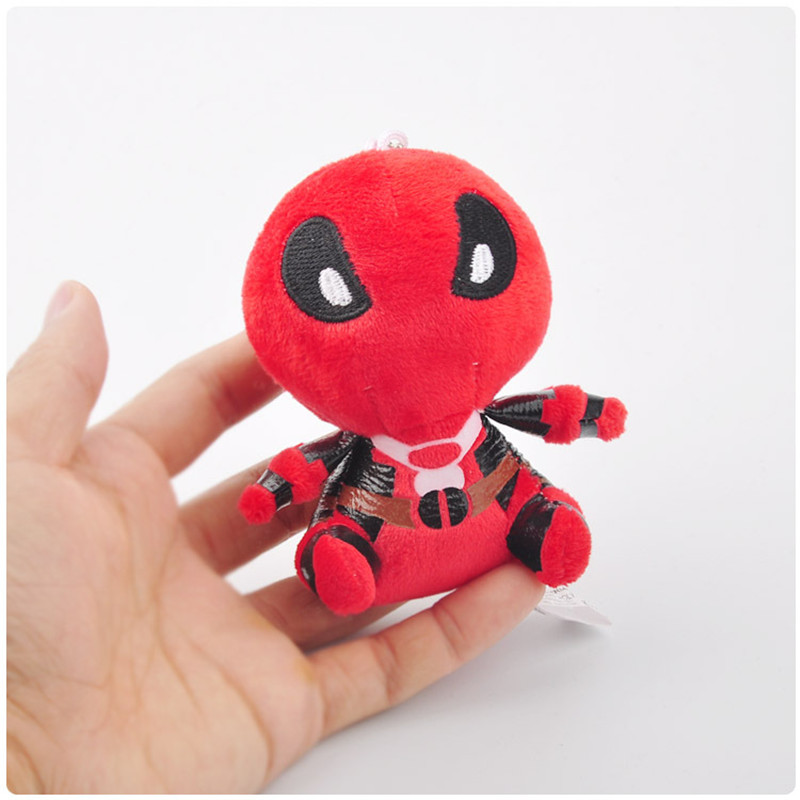 Movie Super Heroes X-Men Deadpool Plush Toys Key Bag Pendants Dolls Peluche Keychain 10pcslot 11cm  (4)