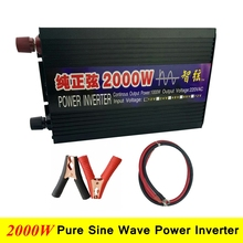 2000W Pure Sine Wave DC/AC Inverter Digital Display 95% Efficiency Power Inverter Converter DC 12V/24V to AC 220V Power Inverter