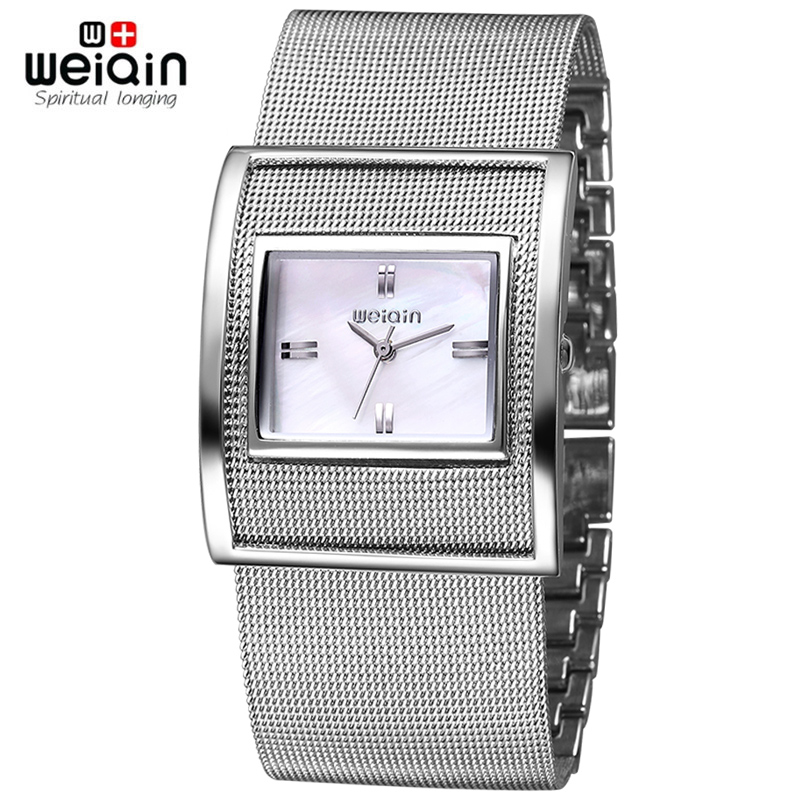 WEIQIN Silver Women Watches Luxury High Quality Water Resistant Montre Stainless Steel Dress Woman Wrist Watches orologio donna<br><br>Aliexpress