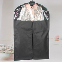 Black White Wedding Dress Cover Bridal Garment Long Clothes Waterproof Dustproof Storage Bag For Protesting Garment Bag(China)
