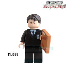Educational Blocks FBI Agent DC Marvel Super Heroes Star Wars Set Action Bricks Dolls Kids DIY Toys Hobbies KL068 Figures
