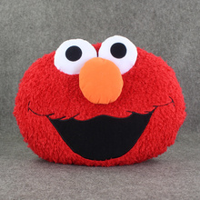 30*37cm New Arrival Anime Sesame Street Plush Toy Elmo Soft Stuffed Pillow Doll Kids Great Plush Cushion Gift