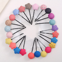 4/pcs Korea Fashion Scotland Style Cute Flower Barrette Hair Accessories High Quality Hair Clip Lovely Hairpin For Girls Women
