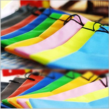New fashion 5PCS Portable colorful Durable pouch waterproof Dustproof soft cloth eyeglasses bag glasses case Eyewear Accessories