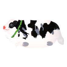 Baby Shower Foil Balloons 1Pc Cow Pet Helium Walking Balloon Party/Birthday/Wedding Decorations Animal Shaped Toy Kids Gift(China)