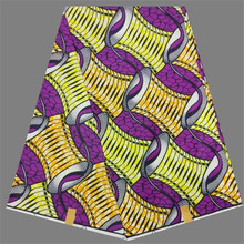 New coming design wax textile super print African batik wax fabric for party dress RWF1 (6yards/pc)