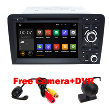 Android 5.1.1 Quad Core 7 Inch In Dash Car DVD Player For Audi/A3 2002-2012 With Canbus Wifi GPS Support DAB BT Radio Free Map
