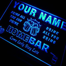 Name Personalized Custom Home Bar Beer Neon Light Sign Blue(China)