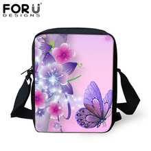 Buy FORUDESIGNS Women Crossbody Bags Butterfly Printing Kids Girls Casual Mini Female Children Messenger Bags Bolsos Mujer for $7.99 in AliExpress store