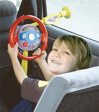 Childrens Electronic Backseat Driver Car Seat Steering Wheel Educational Toy Game