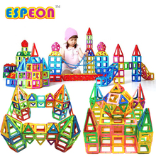 New 164pcs Mini Magnetic Blocks Educational Construction Set Models Castle Building Toy ABS Magnet Designer Kids Toys