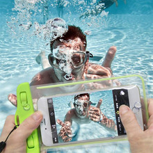 Waterproof Bag With Luminous Underwater Pouch Phone Case For Nokia Lumia 625 For Newman K1 N1 N2 For General Mobile Discovery