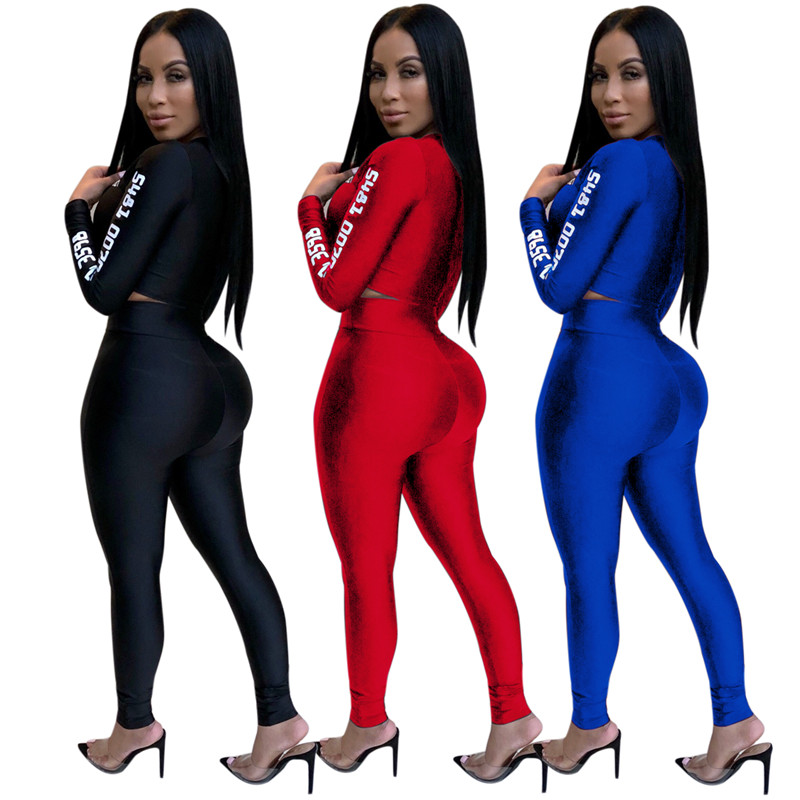 12 European and American sexy letter offset printing set sexy sequined jumpsuit fashion suit Bodysuit Female Evening Night Club Wear08