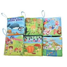 0~12 Months Kids Early Learning Language Fabric Cloth Baby Books Learning&Education Baby Toy Cartoon Book