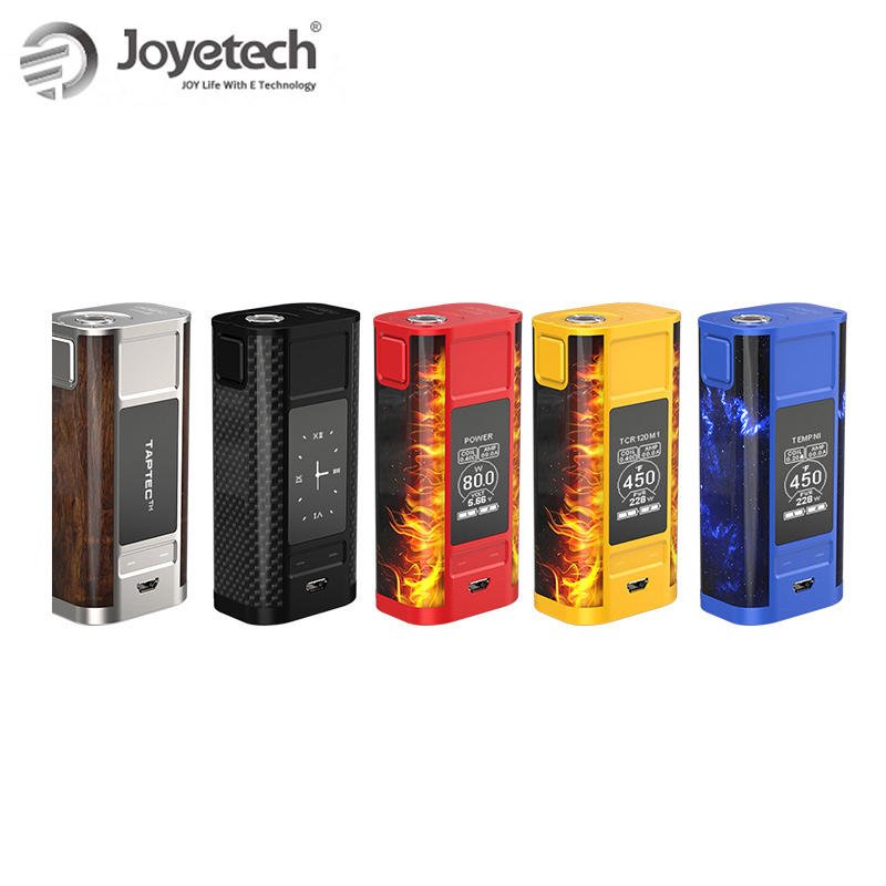 100% Original Joyetech CUBOID TAP TC Mod Box Kit with OLED display CUBOID TAP Mod 228W Battery Box Mod e-cig Kit power by 18650