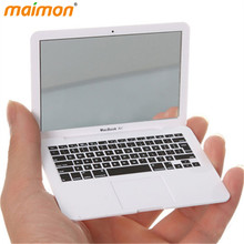 1 Piece Novelty Macbook Air Makeup Mirror Apple Notebook Mini Portable Pocket Mirror Cosmetic Mirrors(China)