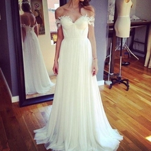Robe De Mariage Summer Style beach Wedding Dress 2017  Romantic Wedding Gowns A Line off the shoulder Long Bridal Gown  CO259