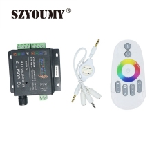 SZYOUMY DC12V 24V 18A Music2 Controller LED RGB Music Sound Sensitivity Controller with RF Wireless Remote for RGB LED Strip(China)