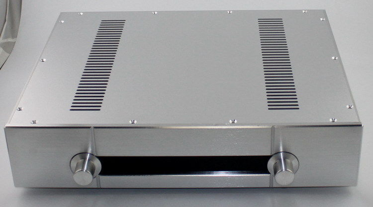 Full aluminum silver Gawain preamplifier chassis enclosure case for diy YA39<br><br>Aliexpress