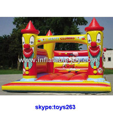 Happy clowns inflatable bouncer jumper clown theme inflatable castle bouncer for kids, portable horse bouncer(China)