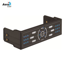 Aerocool F6XT PC Case Fan Speed Controller Control 6 Sets Fans With Dual Color LED Control Panel Computer Fan Controller(China)