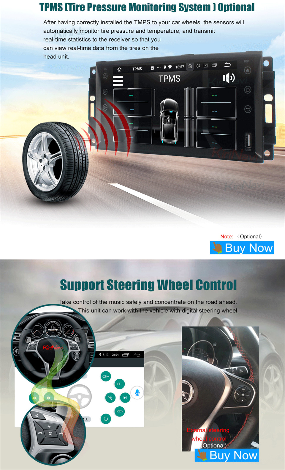 KiriNavi Android Car Radio for Jeep Universal  (16)